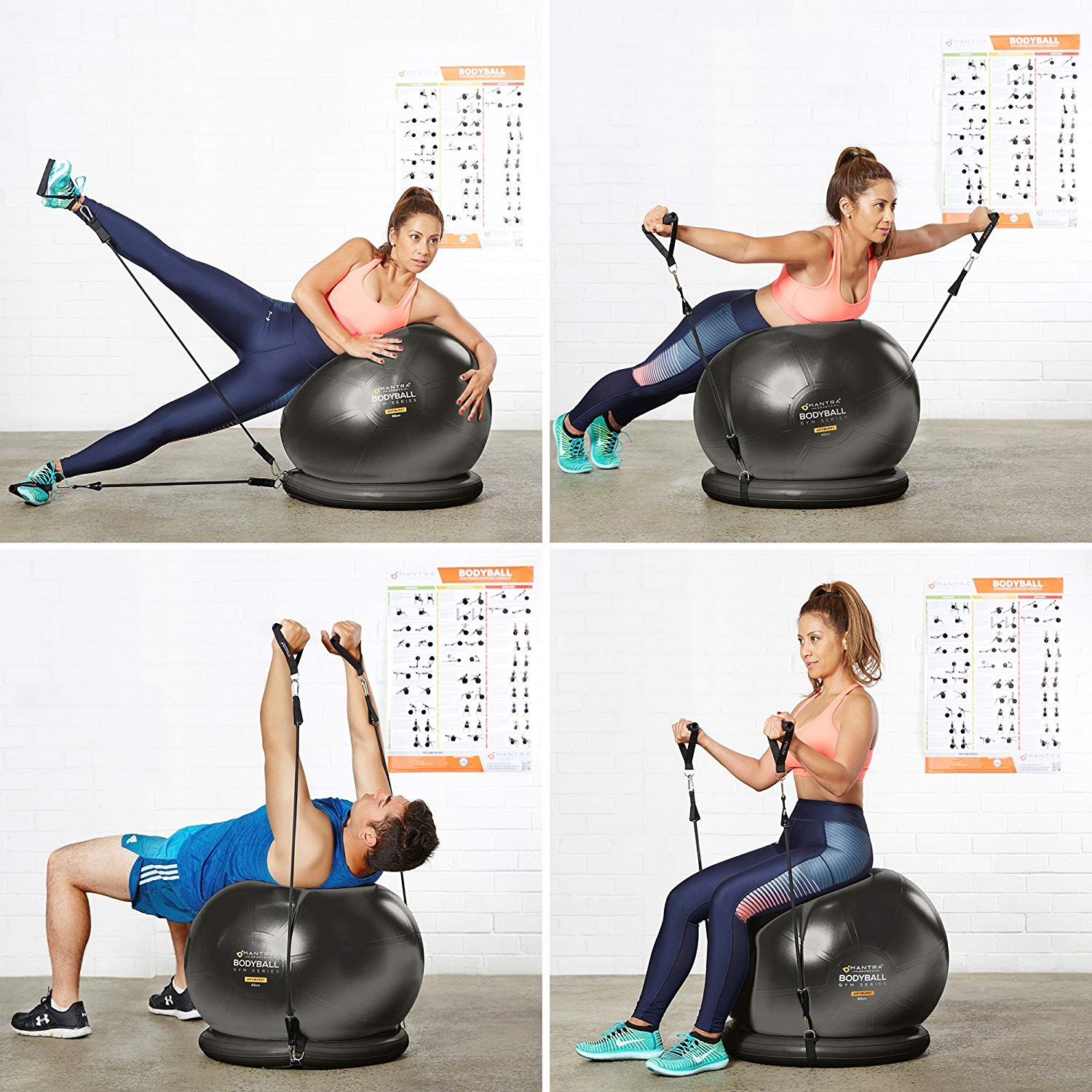 MANTRA-SPORTS Exercise Ball Chair