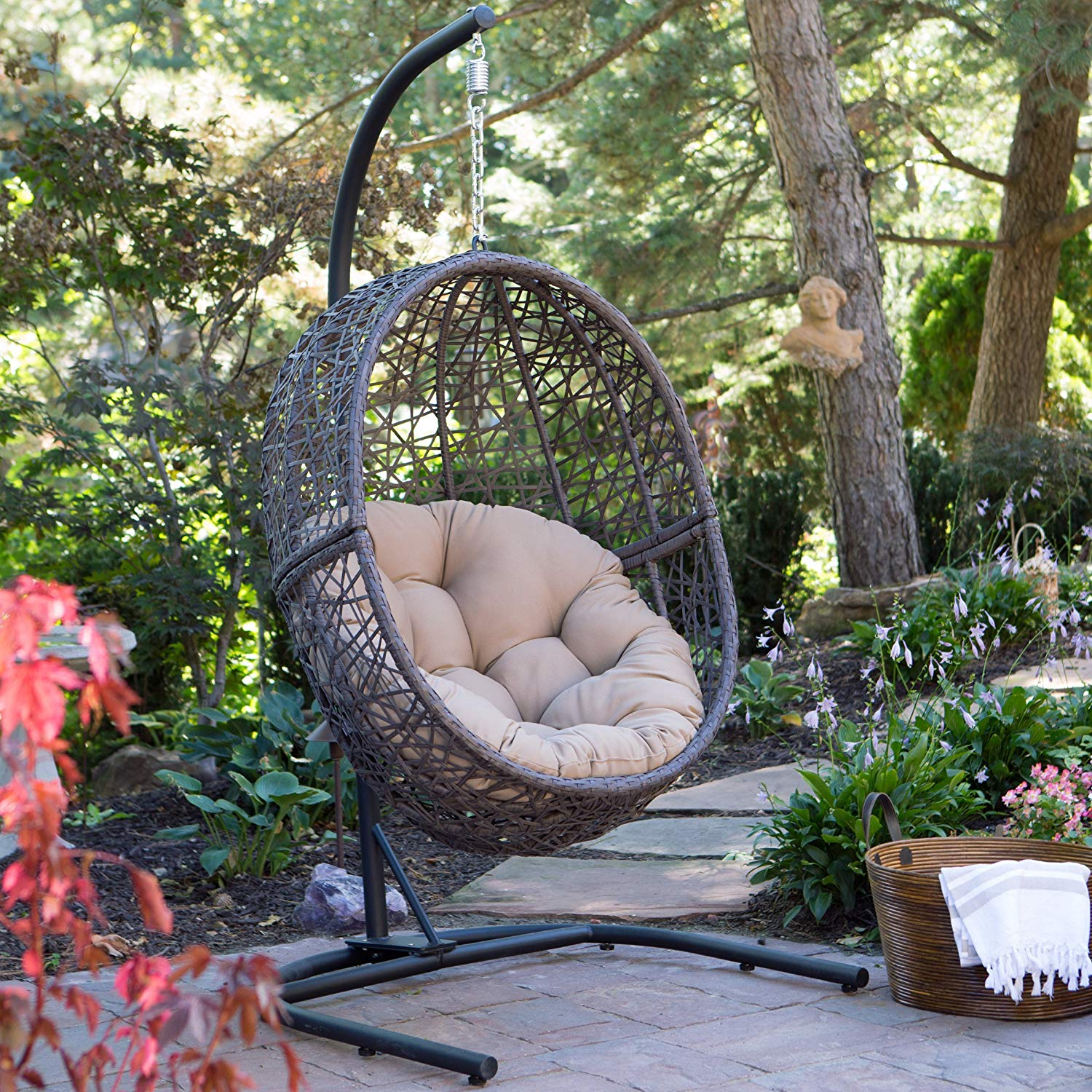 Resin Wicker Espresso Chair