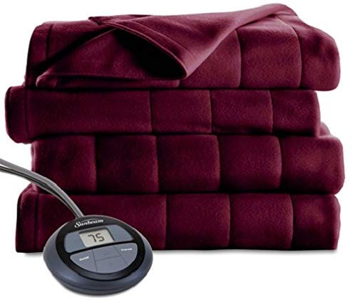 Sunbeam Heated Microplush Blanket