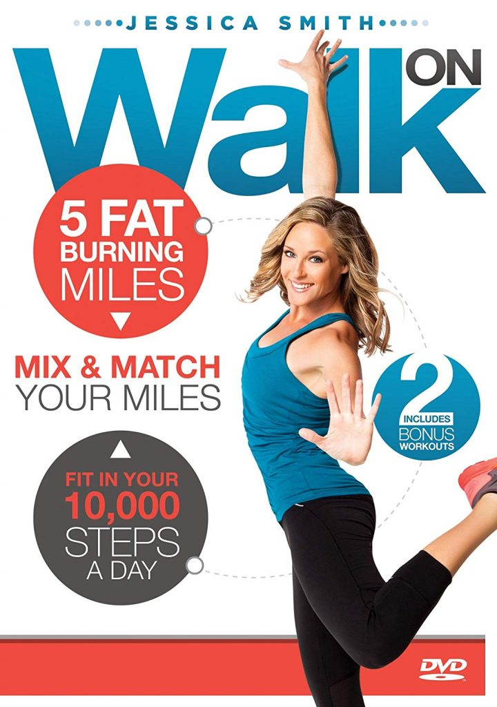 Walk On 10,000 Steps Weight Loss-5 Fat-Burning Miles Indoor Walking Exercise DVD