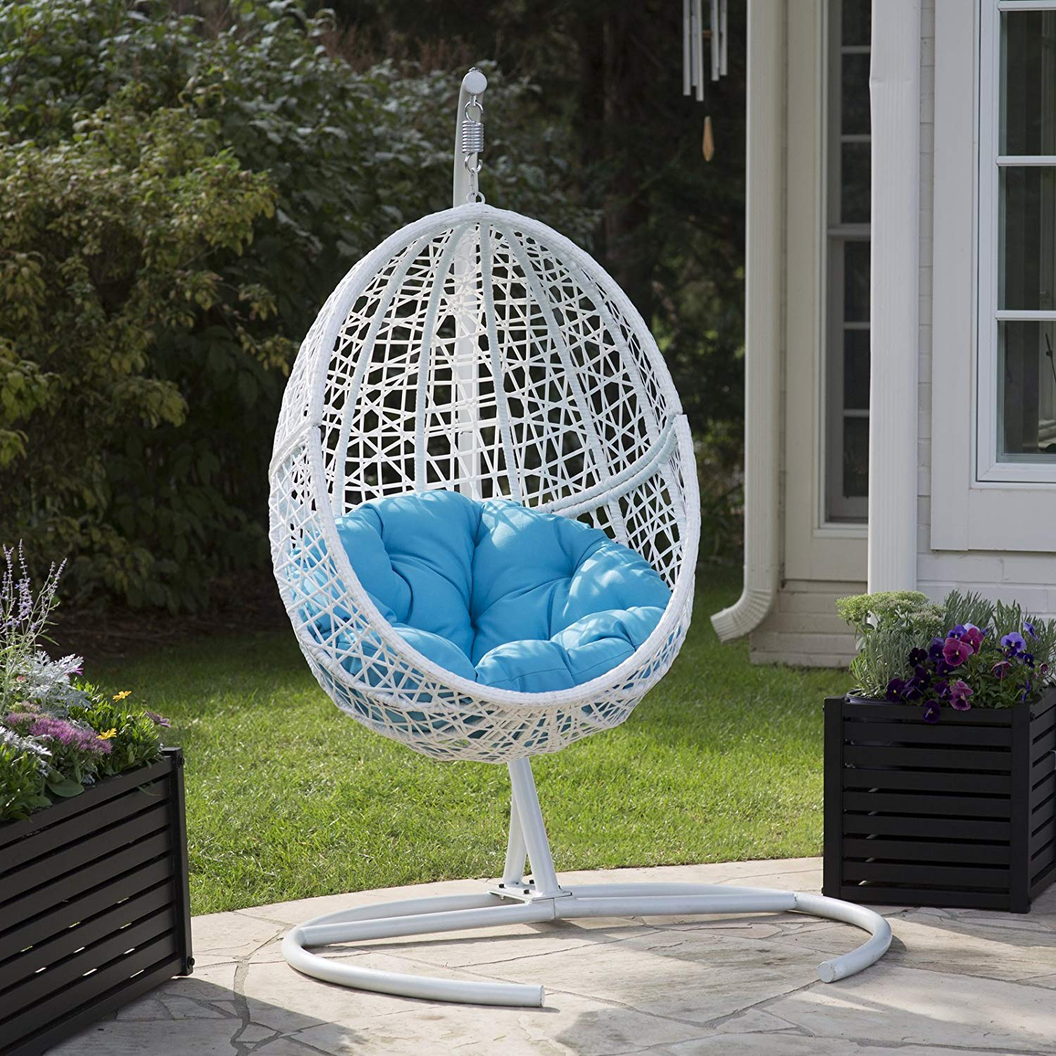 White Resin Egg Chair