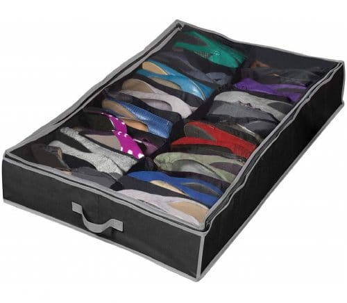 10.Extra-Large Under Bed Shoe Storage Organizer - Underbed Storage Solution Fits Men's and Women's Shoes