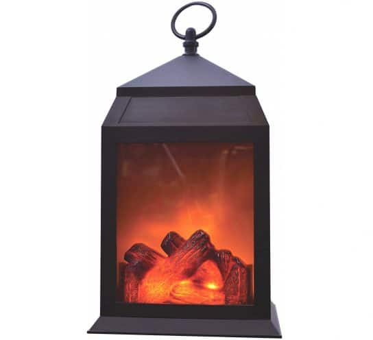 """10.LED Fireplace Lantern – 12"""" Decorative Portable Light Indoor Outdoor Battery Operated Large"""