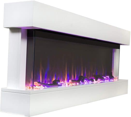 11.Chesmont 50 80033 50 White Mantle, Wall Hanging Electric Fireplace