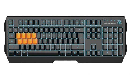 12.Bloody B188 8-Key Light Strike (LK) Optical Mechanical Gaming Keyboard – Tri-Color LED Backli
