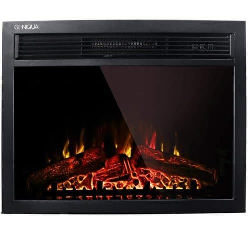 13.Wall Insert Freestand Electric Heat Fireplace Heater w Remote LED Log Flame