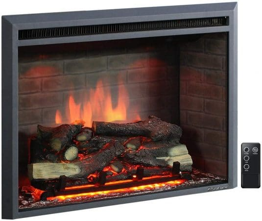 2.33 Inches Western Electric Fireplace Insert with Remote Control