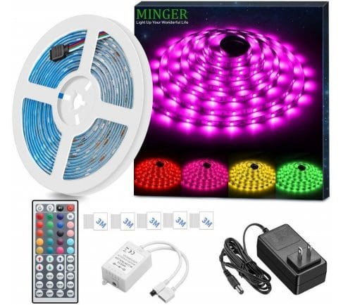 2.LED Strip Light Waterproof 16.4ft RGB SMD 5050 LED Rope Lighting Color Changing Full Kit