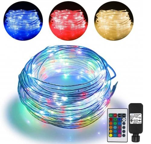 7.66ft Led Rope Lights Outdoor String Lights with 200 LEDs,16 Colors Changing Waterproof Starry Fairy Lights