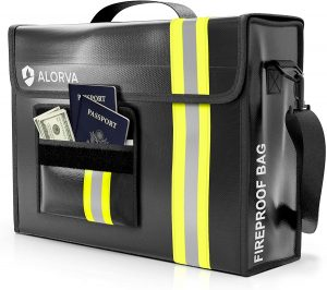 ALORVA Fireproof and Waterproof Document Bag