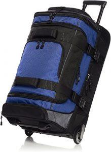Amazon Basics Ripstop Rolling Wheeled Duffel Bag