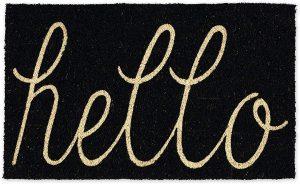 DII CAMZ34075 Hello Coir Doormat