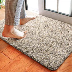 Delxo 24 x 36 Inch Magic Doormat Absorbs Mud Doormat