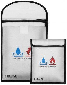 Fireproof Document Bag - 15X11 Fireproof Safe Bag with zipper