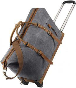 Kattee Luggage Rolling Duffel Bag 50L