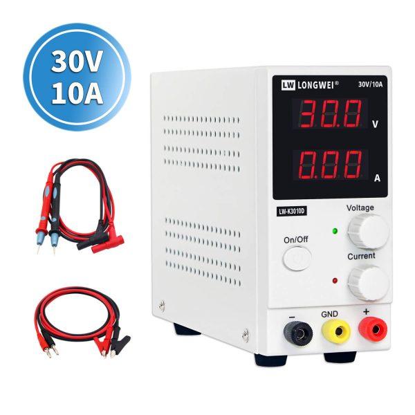DC Power Supply,STP3005H 0-30V 0-5A Regulated DC Power Supply 4-Digit Display Input 110//220V US
