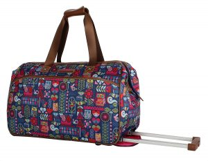 Lily Bloom Luggage Designer Pattern Duffel Carry On Bag