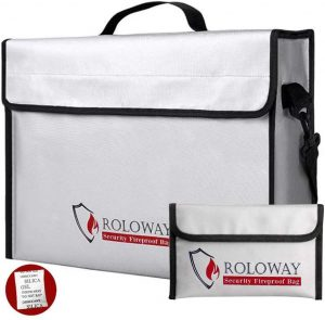ROLOWAY Fireproof Document & Money Bags