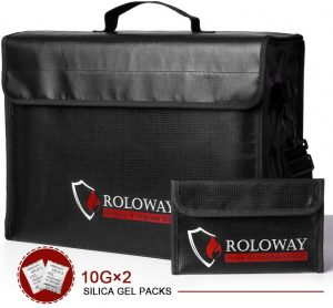 ROLOWAY Large Fireproof Document Bags