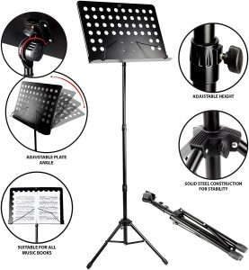 RockJam Orchestral Conductor Sheet Stand