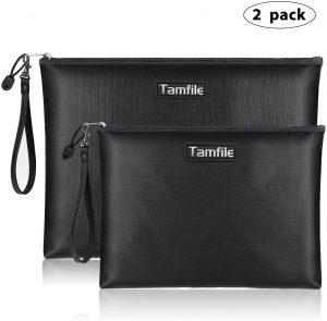 Waterproof and Fireproof Money Bag with Zipper