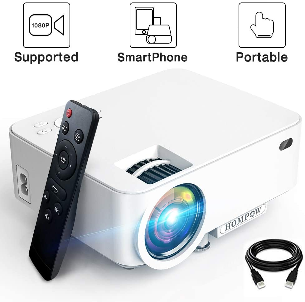 3600Lux Hompow Smartphone Portable Video Projector