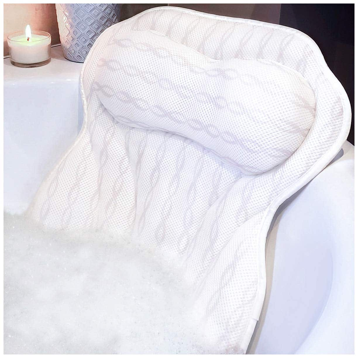Luxury Bath Pillow Bathtub Pillow - Ergonomic Neck Support