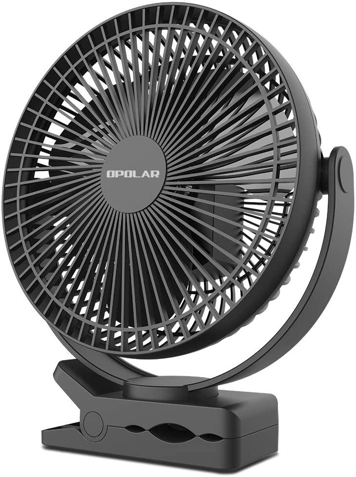 OPOLAR 10000mAh 8-Inch Rechargeable Clip on Fan