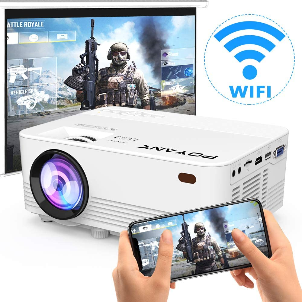 POYANK 4500Lux LED WiFi Projector