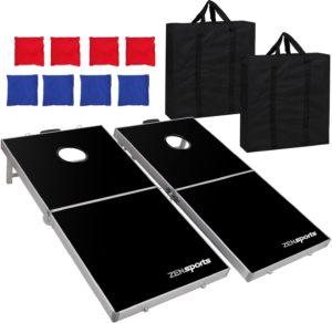 ZENY Portable 4' x 2' Aluminum Foldable Cornhole Game Set