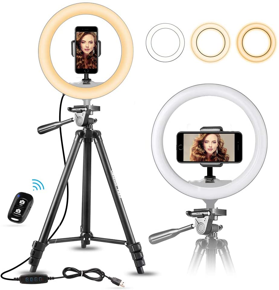 "10"" Selfie Ring - Extendable Tripod"