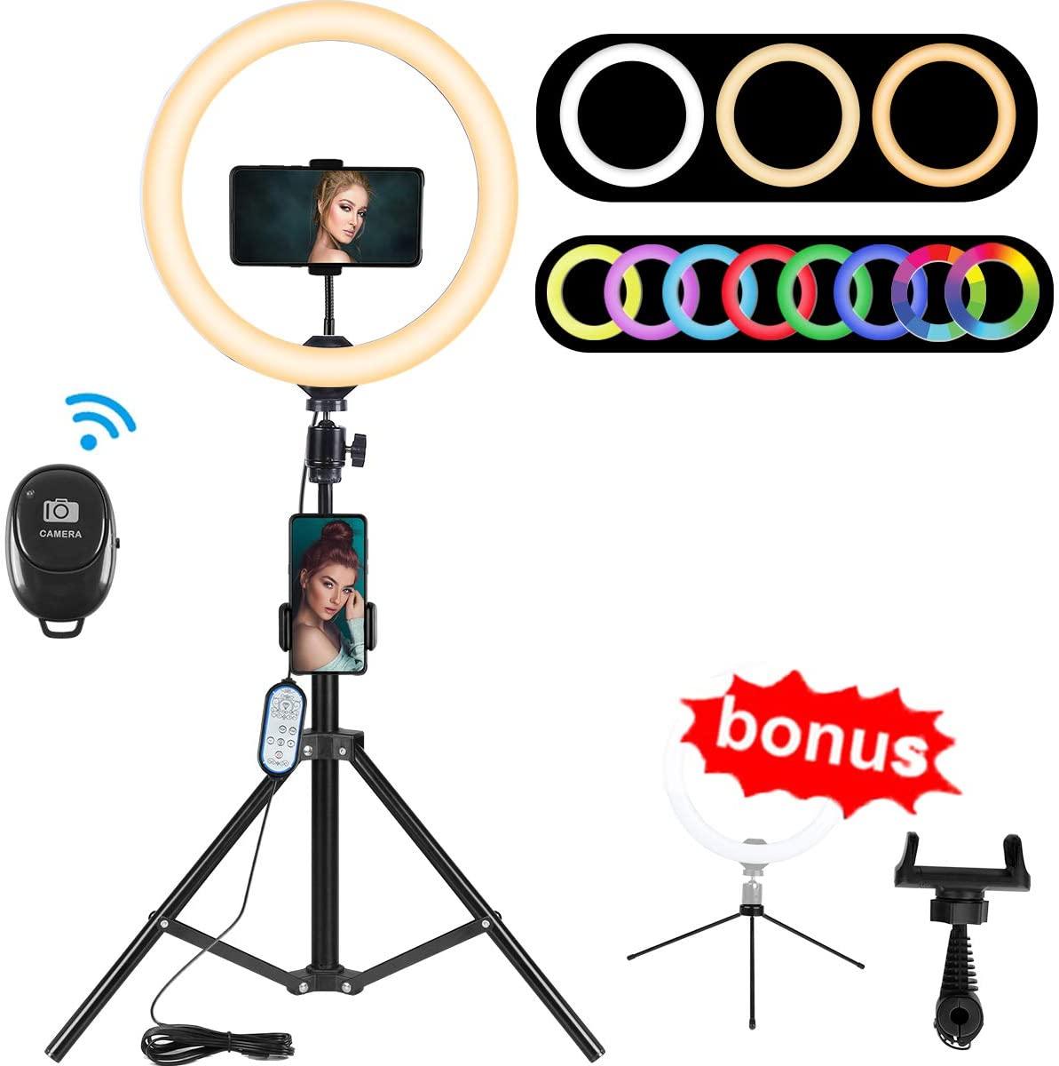 "10.2"" RGB Selfie Ring Light"