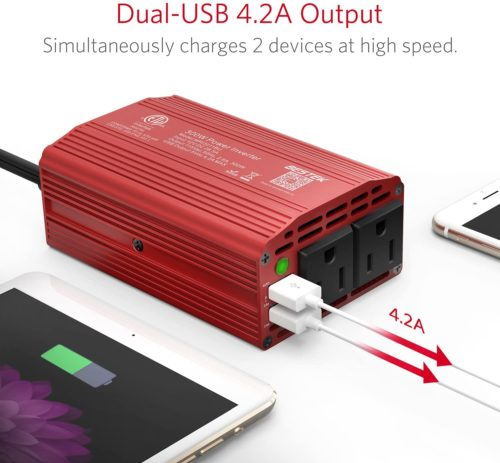 1. BESTEK Laptop Car Charger Power Inverter