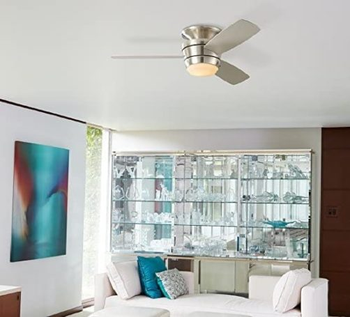 1. Harbor Breeze MazonBrushed Nickel Indoor Ceiling Fan with Light Kit