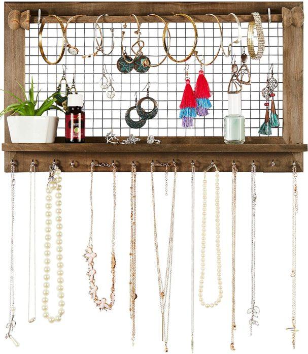 #1. SoCal Wall Jewelry Organizer