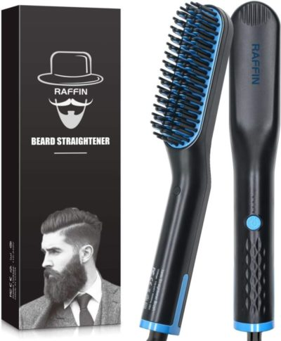 #10. Raffin Anti-scald Beard Straightening Brush