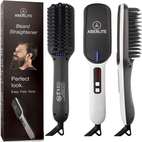 #2. Aberlife Beard Upgraded Straightening Brush