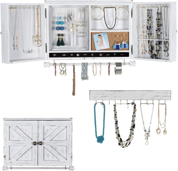 #2. Excello Global Product Wall Jewelry Organizer Cabinet