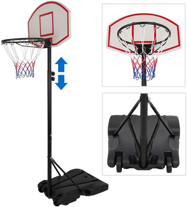 #4. Zeny Pool Basketball Hoop Stand and Rim
