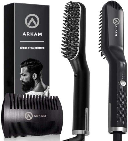 #5. Arkam Beard Straightening Brush