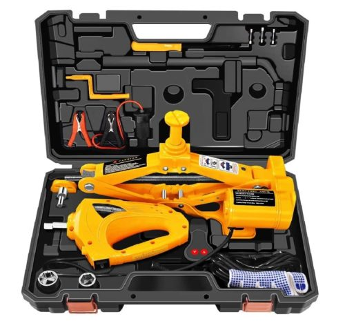 5. E-HEELP Automatic Electric Car Jack Set, 3 Ton Lift with Impact Wrench
