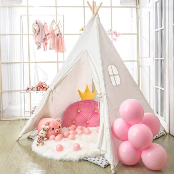 #5. Wilwolfer Teepee for Kids Girls and Boys