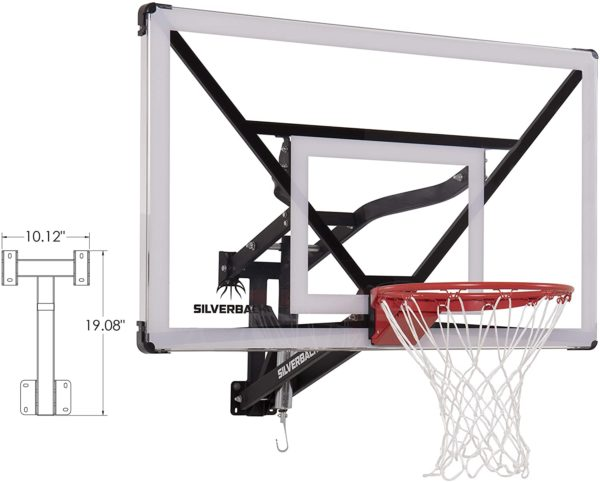 #6. Silverback Wall-Mounted Pool Basketball Hoop