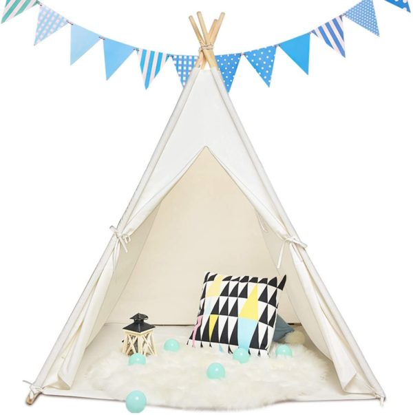 #6. Sumbababy Natural Cotton Teepee for Kids