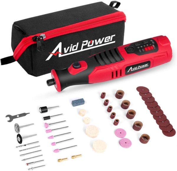 #7. Avid Power 60-Piece Rotary Tools
