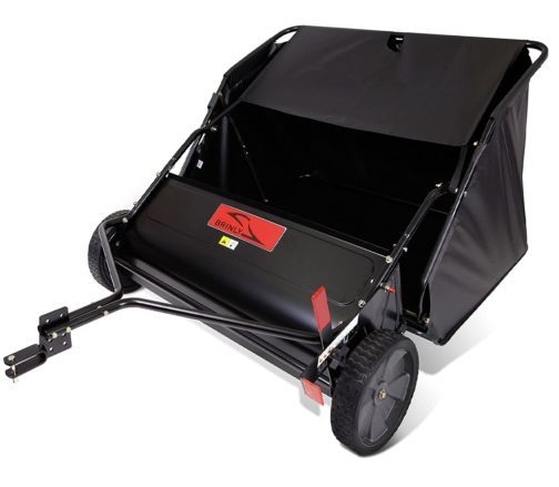 7. Brinly 20 Cubic Feet Tow Behind Lawn Sweeper