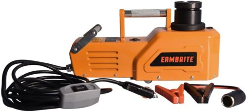7. EAMBRITE Heavy Duty Hydraulic Floor Electronic Car Jack with LED Light