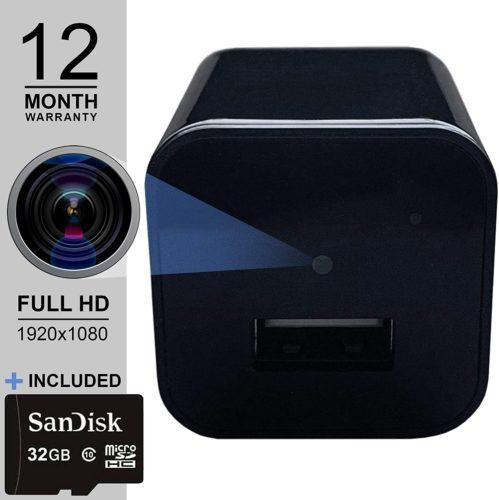 9. USB Spy Camera with Hidden Nanny Cam Surveillance Full HD