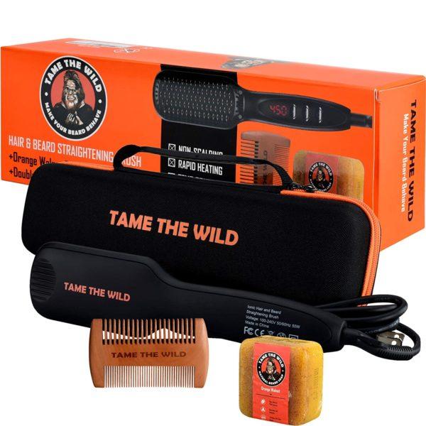 #9. Tame Beard 12-Setting Straightening Brush