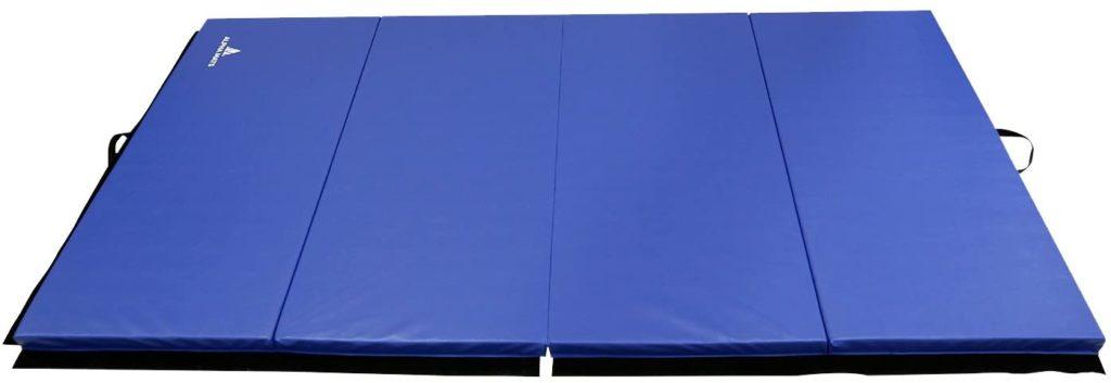 Alpha Mats Folding Gymnastics and Exercise Mat, PU Material & EPE Foam, Perfect for Aerobics, Yoga, Martial Arts
